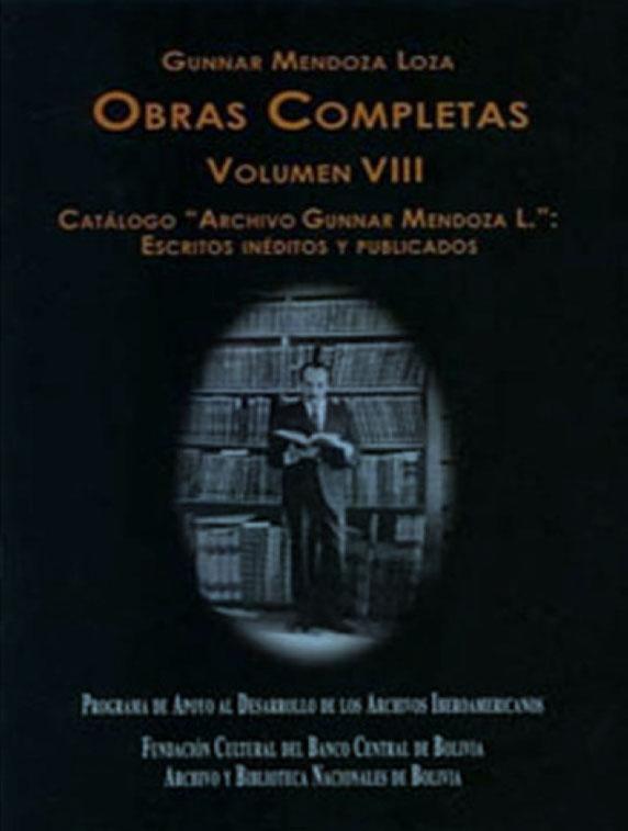 OBRAS COMPLETAS DE GUNNAR MENDOZA LOZA